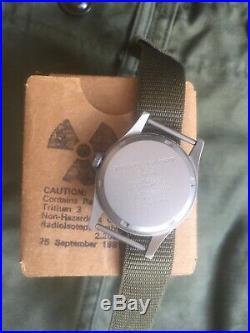 Rare Vintage NOS Hamilton H3 Vietnam US Military Watch mit original Box