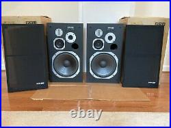 Rare Vintage Pioneer HPM-900 Stereo Speakers With Original box Refoamed MINT