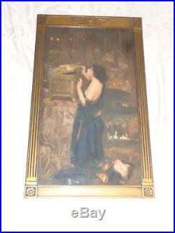 Rare Vintage Sgd Waterhouse Pandora Box Preraphaelite Arts Crafts Original Print