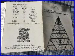 Rare Vintage Stanton 500 Broadcast Standard Series Cartridge Stylus Original Box