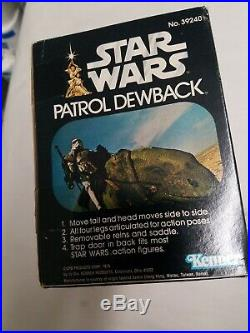 Rare Vintage Star Wars Patrol Dewback in the Original Box