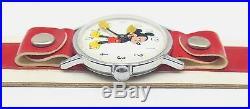 Rare Vtg Ingersoll Mickey Mouse Walt Disney Productions Wrist Watch Original Box