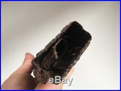 Rare WW2 German Battle Damaged Box Field Relic // Display Part 100% 44 Original
