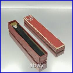 Rare solid silver Dunhill Paris cigarette holder. Boxed & original pouch lighter