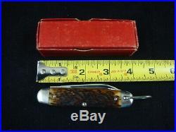 Remington USA RS3333 Official Boy Scout Knife Full Etching RARE Box Bone NR MINT