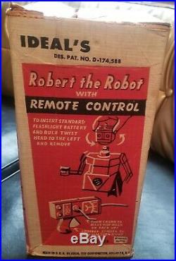 Robert The Robot By Ideal Rare Version 1 1953 Original Box Nice