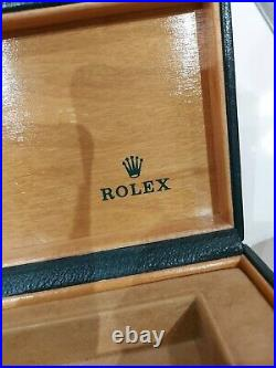 Rolex Original Vintage Watch Box RARE Version Folded Cushion 68.00.55 1980's