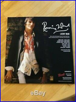 Ronnie Wood, Rolling Stones, Lucky Man box set, Signed with artwork 12, RARE