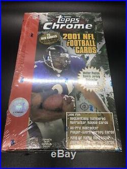 SUPER-RARE! 2001 TOPPS CHROME NFL Football Sealed HOBBY Box 24 Packs