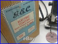 SUPERB NEW RARE 1940's VINTAGE GEC 2 SLICE ELECTRIC TOASTER WITH ORIGINAL BOX