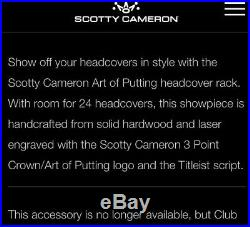 Scotty Cameon Headcover Rack- Art Of Putting Rare Original Release New In Box