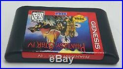 Sega Genesis Phantasy Star IV 4 Rare Original Box & Manual Cleaned & Tested