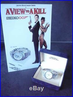 Seiko 7a28-7020 James Bond original rare box e garanzia datata1984