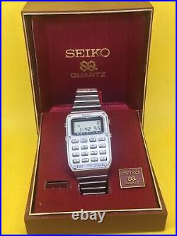Seiko mens digital calculator watch SUPER RARE working original box C515-5000