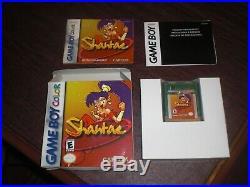 Shantae for Nintendo Game Boy Color Game Manual Original COMPLETE with BOX RARE