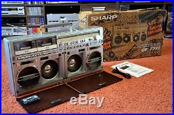 Sharp Gf-777 Z Vintage Stereo Boombox Perfect Condition With Original Box Rare