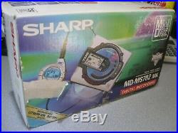 Sharp MD-MS702 MK Portable MiniDisc Recorder Player Music Rare With Original Box