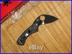 Spyderco C141CFP Balance Pin Ed Schempp Carbon Fiber knife RARE NEW IN BOX