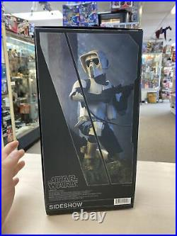 Star Wars 1/6 scale SCOUT TROOPER Exclusive Figure by Sideshow Collectibles Rare