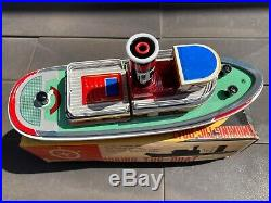 Sunrise Toys Smoking Tugboat In Its Original Box Excellent Working Model Rare