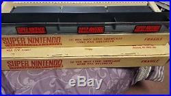 Super Nintendo Nes M801 Logo Showcase Game Pak Organizer Rare In Original Box