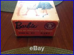 Super Rare #1 Barbie Tm Box And #1 Barbie Body With Holes In Feet! Head Liner