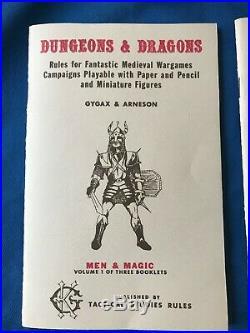 Super Rare! D&D Dungeons and Dragons Original White Box 3-Volume Set