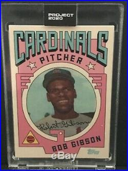 TOPPS PROJECT 2020 BOB GIBSON CARD #7 GROTESK PR 1,205 WithBOX RARE