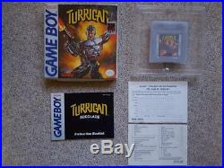 TURRICAN Original Gameboy Game USA Boxed with Instructions RARE