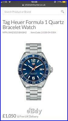 Tag Heuer Formula 1 RARE Blue Mens Watch GENUINE F1 new in Original Box