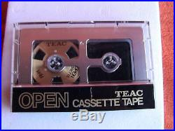 Teac Open Cassette Tape Oc-5n Rh-1 + Nt-50 Normal C-50 X5 In Original Box Rare