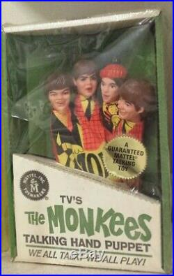 The Monkees Talking Hand Puppet Mattel Vintage 1966 Sealed Box RARE