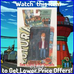 Toynami Futurama Fry Figure w Robot Devil Part Series 2 NEW Collectible Rare Loo