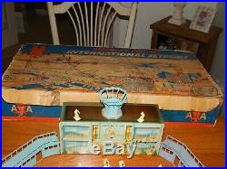 Ultra RARE 1950's Marx International Airport Playset With Original Box & Inserts