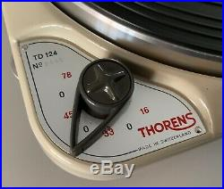 Ultra Rare Thorens Td 124 Mk I Serial# 2552 In Original Box