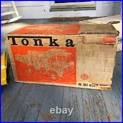 VERY RARE 1st year 1964 Vintage Mighty Tonka Dump Truck 900 with original box