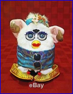 VERY RARE JAPANESE FURBY 1998 White Customized in Original Box Mother Lang