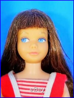 VERY RARE Two Tone Brunette Skipper Doll #950 WithBox & Accessories Vintage 1960s