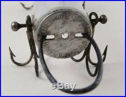 VINTAGE Old DETROIT MINNOW TUBE Glass Lure IN ORIGINAL BOX Very Rare Michigan Co