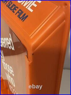 VINTAGE RARE ORIGINAL AGFA PHOTO FILM 35mm BOX DISPENSER CAMERA STORE AD
