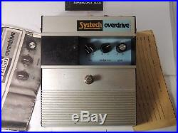 VINTAGE SYSTECH OVERDRIVE EFFECTS PEDAL withORIGINAL BOX AND DOCS RARE OD
