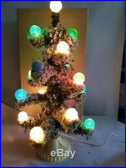 VTG 1940 Rare Noma Lites Xmas Christmas Tree Superb With Original Box and Lights