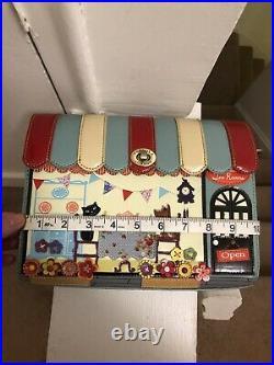 Vendula London Very Rare Original High Tea Room Cat Dog Handbag Crossbody Box