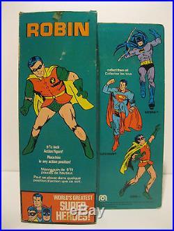 Very Rare 1976 Mego Canadian Robin 9.5 Action Figure In Original Box Batman