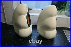 Very Rare Blueroom Loudspeakers Ltd. Minipod White Speakers in Original Box
