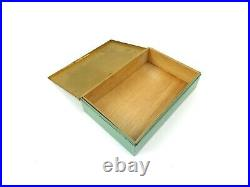 Very Rare Original German Bauhaus Avantgarde Art Deco Case 1920 Metal Box