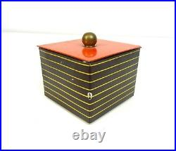 Very Rare Original German Bauhaus Tin Box De Stjil Art Deco Case Geometric
