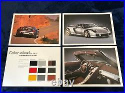 Very Rare Porsche Factory Carrera GT Hardback Brochure in Original Sealed Box
