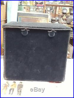 Very Rare Vintage Peter Pan Gramophone With Original Box And Records