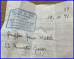 Vintage 1950s Mens GRIFFON Original Box/Tag. Full Stainless Steel. Rare
